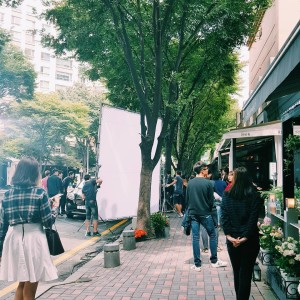 Another day another film shoot in the neighborhood  koreahellip